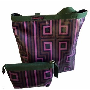 JONATHAN ADLER Tote w/ Matching Cosmetic Pouch